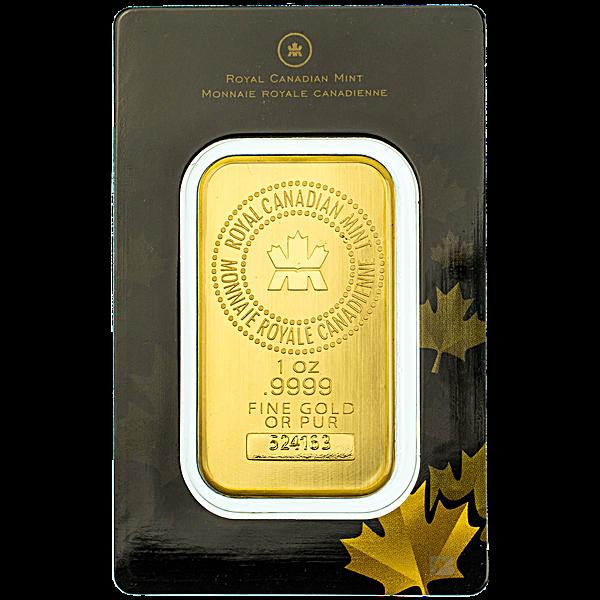 Royal Canadian Mint Gold Bar - 1 oz