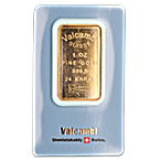 Valcambi Gold Bar - 1 oz thumbnail