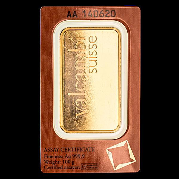 Valcambi Gold Bar - 100 g