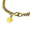 Gold Bullion Bracelet with Heart Charm - 20 g