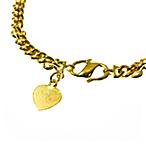 Gold Bullion Bracelet with Heart Charm - 20 g thumbnail
