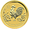 Australian Gold Lunar Series 2017 - Year of the Rooster - 1 oz