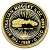 Australian Gold Kangaroo Nugget 1988 - Circulated in good condition - 1/4 oz