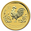 Australian Gold Lunar Series 2017 - Year of the Rooster - 1/4 oz