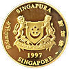 Singapore Gold Lunar Series 1997 - Year of the Ox - 1 oz