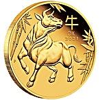 Australian Gold Lunar Series 2021 - Year of the Ox - Proof - 1/4 oz thumbnail