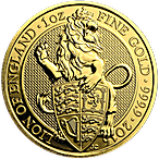 United Kingdom Gold Queen's Beast 2016 - Lion - 1 oz thumbnail
