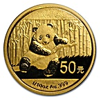 Chinese Gold Panda 2014 - 1/10 oz thumbnail