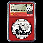 Chinese Silver Panda 2016 - Graded MS 69 by NGC - 30 g thumbnail