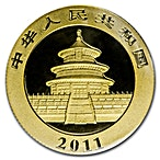 Chinese Gold Panda 2011 - 1/2 oz thumbnail
