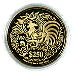 Singapore Mint Gold Rooster 1993 - 1 oz thumbnail