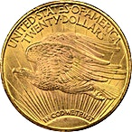 US $20 St. Gaudens Double Eagle 1924  - 30.09 g thumbnail