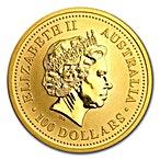 Australian Gold Kangaroo Nugget 1999 - 1 oz thumbnail