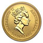 Australian Gold Kangaroo Nugget 1992 - 1/2 oz thumbnail
