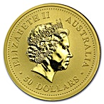 Australian Gold Kangaroo Nugget 2006 - 1/2 oz thumbnail