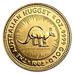 Australian Gold Kangaroo Nugget 1992 - 1/4 oz thumbnail