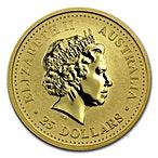 Australian Gold Kangaroo Nugget 2006 - 1/4 oz thumbnail