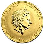 Australian Gold Lunar Series 2011 - Year of the Rabbit - 1/2 oz thumbnail