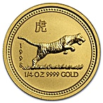 Australian Gold Lunar Series 1998 - Year of the Tiger - 1/4 oz thumbnail