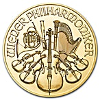 Austrian Gold Philharmonic Various Years - 1/4 oz thumbnail