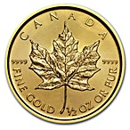 Canadian Gold Maple 2017 - 1/2 oz thumbnail