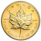 Canadian Gold Maple 1989 - 1/2 oz thumbnail