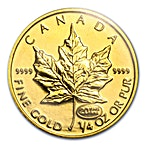 Canadian Gold Maple 1999 - 1/4 oz - 20 years ANS Privy - Hologram thumbnail