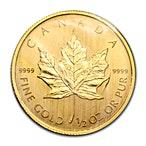 Canadian Gold Maple 2009 - 1/2 oz thumbnail