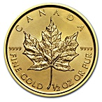 Canadian Gold Maple 2018 - 1/2 oz thumbnail