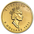 Canadian Gold Maple 1995 - 1/10 oz  thumbnail