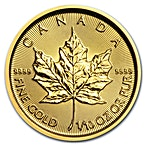 Canadian Gold Maple 2018 - 1/10 oz thumbnail