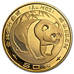 Chinese Gold Panda 1983 - 1/2 oz thumbnail