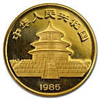 Chinese Gold Panda 1985 - 1/2 oz thumbnail
