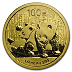 Chinese Gold Panda 2010 - 1/4 oz thumbnail