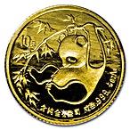 Chinese Gold Panda 1985 - 1/10 oz thumbnail