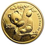 Chinese Gold Panda 1996 - 1/2 oz thumbnail