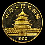 Chinese Gold Panda 1990 - 1 oz thumbnail