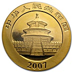 Chinese Gold Panda 2007 - 1 oz thumbnail