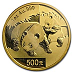 Chinese Gold Panda 2008 - 1 oz thumbnail