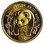 Chinese Gold Panda 1986 - 1/10 oz thumbnail