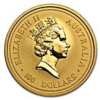 Australian Gold Kangaroo Nugget 1996 - 1 oz thumbnail
