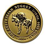 Australian Gold Kangaroo Nugget 2004 - 1/10 oz thumbnail