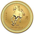 Australian Gold Lunar Series 2002 - Year of the Horse - 1 oz thumbnail