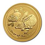 Australian Gold Lunar Series 2011 - Year of the Rabbit - 1 oz thumbnail