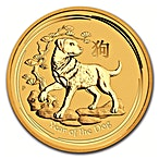 Australian Gold Lunar Series 2018 - Year of the Dog - 1/10 oz thumbnail