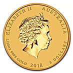 Australian Gold Lunar Series 2018 - Year of the Dog - 1/20 oz thumbnail