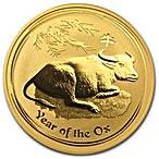 Australian Gold Lunar Series 2009 - Year of the Ox - 1 oz thumbnail
