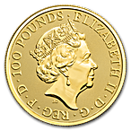 United Kingdom Gold Queen's Beast 2019 - The Yale - 1 oz thumbnail