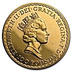 United Kingdom Gold Britannia 1993 - 1 oz thumbnail