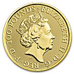 United Kingdom Gold Queen's Beast 2020 - The White Lion - 1 oz thumbnail